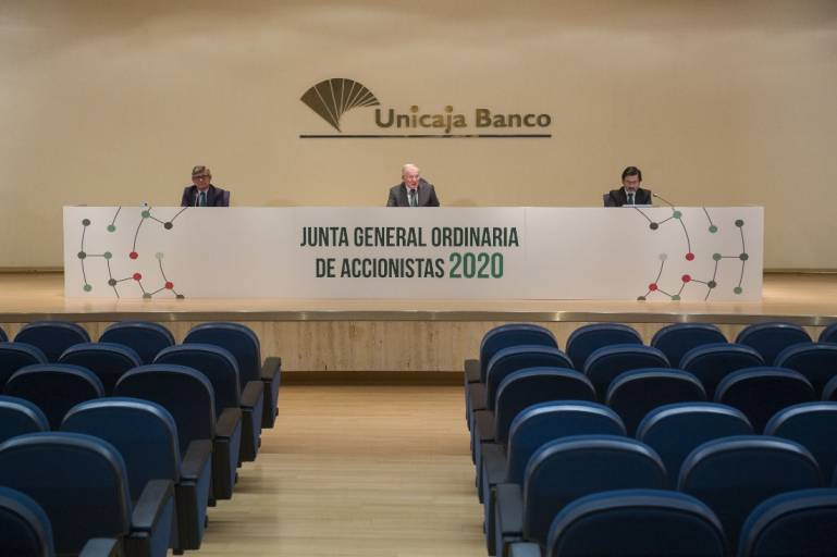 Unicaja Banco's General Meeting approves the 2019 accounts, and highlights its financial strength to face the Covid-19 crisis and provide support to its customers